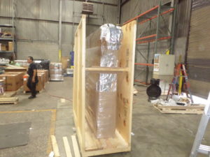 Export Crate with Vapor Barrier Packaging Server Rack