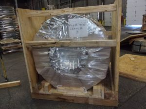 Export Crating with Vapor Barrier Packaging - Steel Coils