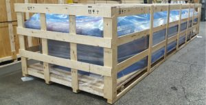 Skeleton Crate with VCI Packaging - Industrial Machinery