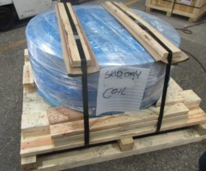 Export skid with VCI Packaging - Steel Coil
